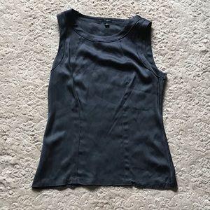 Ann Taylor silky gray tank top, size small